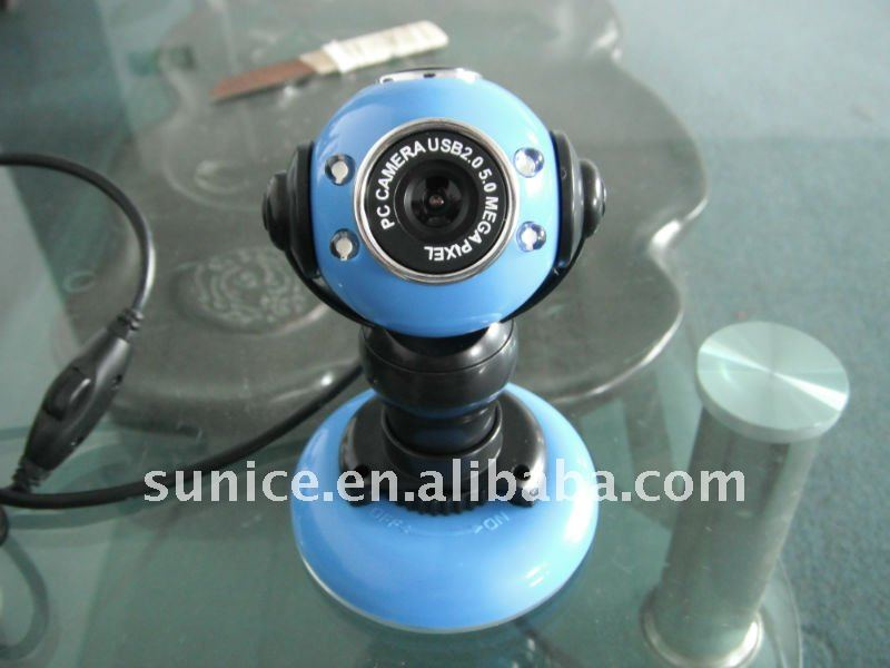 Mini blue usb webcam
