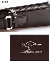 Маленькая сумочка fashion genuine leather men shoulder bag, High Quality Brand New, Authentic Kangaroo bags, men's business bag