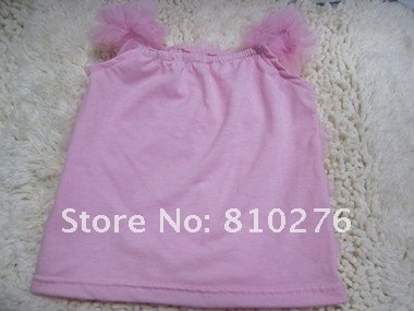 Fashion Baby/Children Hot Pink Chiffon Petti Tank Top
