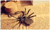 Топ продаж бренда Винтаж ретро хрусталь личность паука ожерелье кулон заявление ювелирные изделия k43