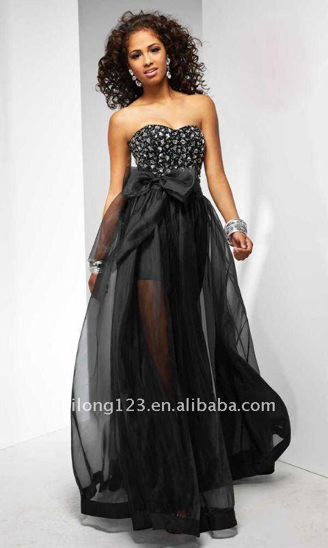 Strapless Black Prom Dresses - Ocodea.com