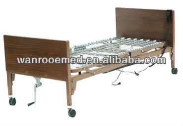 Wooden Hospital/Home Care Electric+Manual Nursing Beds