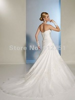 Свадебное платье Actual Images Hot sale Modern Halter Sleeveless A Line Lace up Bridal Gown wedding dresses