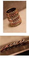 Кольцо Contracted Lettering Restoring Ancient Ways of Letters Ring, Peace Ancient Bronze R535