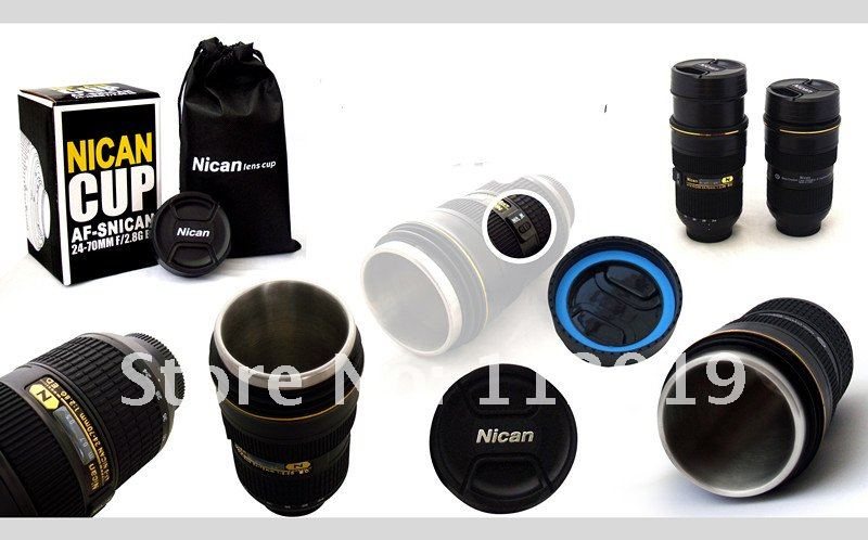 Freeshipping Scalable lens mug EF telescopic Lens coffee Mug Cup(Zoomable Version)
