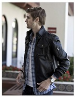 Free shipping New Mens / Fashion gentleman concise Mens Leather / leather jacket coat / WT502  P140