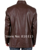 Мужские изделия из кожи и замши New 2013 Men's brand fashion stand collar sheepskin genuine leather Motorcycle leather Jackets Coat / M-XXXL