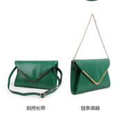 Free shipping 2013Fashion women's serpentine leather Clutch bag genuine leather printed evening bag chain princess envelope bags