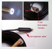 Веб-камера 15M Length Home Endoscope Waterproof Camera with 4 LED light