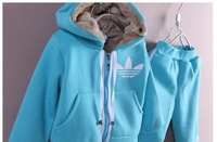 Комплект одежды для девочек One set retail 2012 winter kid branded 2pcs clothing set thicken hoodies + pant 2 colors 5 sizes A48 Top quality