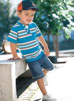 Детские костюм/2-х частей набор мальчиков: полоса коротким рукавом Футболка + джинсы/случайный мальчиков летняя одежда