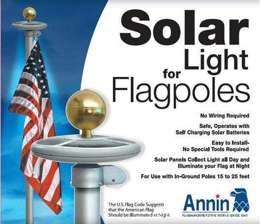 Подсветка флага на солнечной энергии