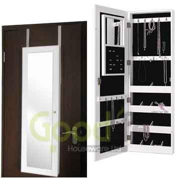 Multifunctional wooden hanging display cabinet