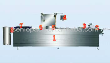 2014 Newest 420/520 Automatic Thermoforming fruit and vegetable Vacuum Packing Machine