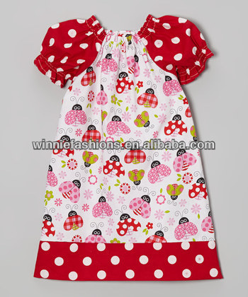 2014 Hot sale! 100% cotton quatrefoil baby cute dresses girl frocks design