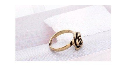 Freeshipping & Wholesale,Korea Fashion Ring,  Fashion vintage style cute rose ring,resizable