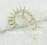 новых европейских и американских панк-стиль заклепка с бурения серьги ухо крючок мода ювелирные изделия ly-e291