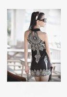 Женская одежда elegant round neck printed dress 181146