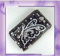 Чехол для для мобильных телефонов Newest Bling case Purple Butterfly Rhinestone Plastic Hard Full Case Cover For HTC Wildfire G8Case