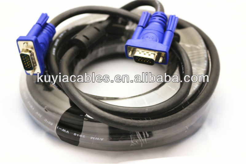 10M/30ft Gold plated/nickel Plated Double shielding HD15pin 3+6 VGA to VGA Cable for Projector,LCD