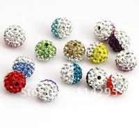 Браслет из бисера Colorful Shamballa Heart Bead Lovely Heart Style CZ Disco Pave Crystal Beads Shining Rhinestone Beads DIY Shamballa Bracelet