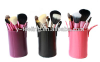 Инструменты для макияжа New Professional Super 13 pcs Minerals Brush Set Make Up/ Cosmetic Brushes Kit Wth Purple Cylinder PU Case
