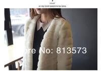 Free Shipping !! New Womens Korean Rabbit Fur Coat ,Warm Jackets For Women