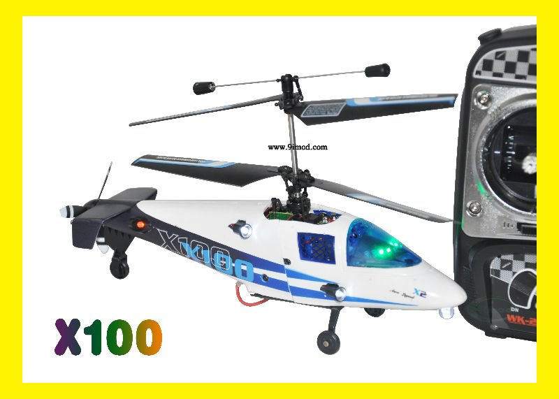 Mini Coaxial 2.4G 4ch rc helicopter Walkera X100 With Gyro & WK-2402 Transmitter Edition RTF helicopter