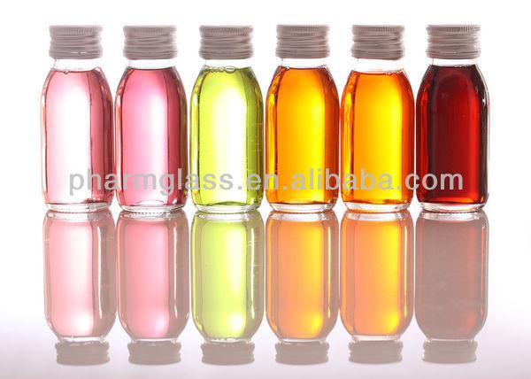 Amber glass Bottles For Syrup/Oil DIN PP 28mm