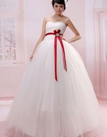 Свадебное платье 29 2013 newest women fashion sexy bow simple strapless satin material floor length wedding dresses
