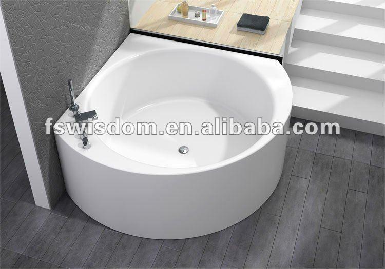 New italienne classique lucite acrylique ronde baignoire avec douche wd6471 b - Baignoire ronde en bois ...