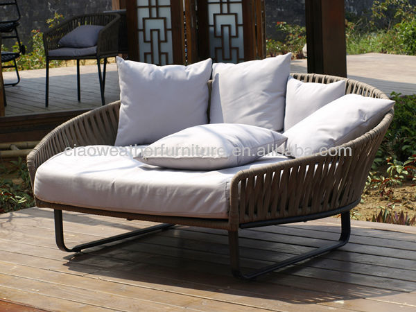 Patio sofa bed for Belmont brown wicker patio chaise lounge
