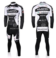 Мужская одежда для велоспорта 2011 Kuota white cycling long sleeve jersey and pants, cycling wear, bicycle clothing, cheap cycle jersey