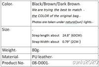 BLACK PU Leather Shoulder Hand Bag  Purse Replacement   MOBILE 3 Straps D001 1PC