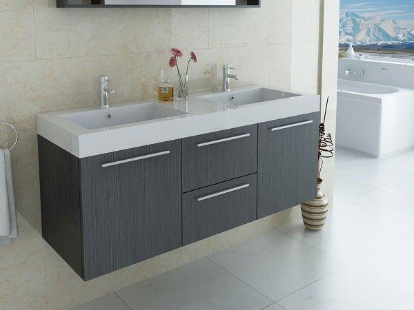 Lavabos Dobles Para Baño:Lavabo doble con el sistema lateral grande del cuarto de baño de