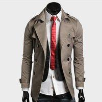 новые люди Азии размер большой воротник пальто Двойной Брестед Куртки и пиджаки с поясом короткий тонкий winderbreaker размер: m / l/xl/xxl ktg83