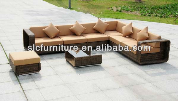 mobiliario jardim rattan : mobiliario jardim rattan:qualidade Top de vendas Rattan mobiliário de jardim-Sofás de jardim