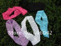 "Детский аксессуар для волос 1 2/5"" fashion baby lace headband, soft material baby headbands, 36pcs/lots mix color"