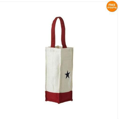 Cotton canvas bottle tote bag