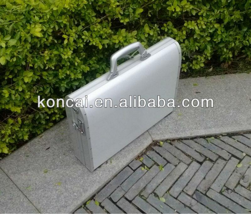 Pure Aluminum/aluminium attache computer laptop ,aluminum casealuminium tool case with eva insert,portablealuminum tool case.