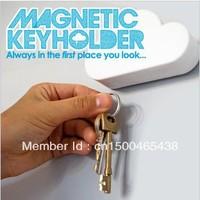 Новинка abs белое облако стиль магнитный держатель ключа / брелок Организатор / брелок настенные полки / стойки связку ключей