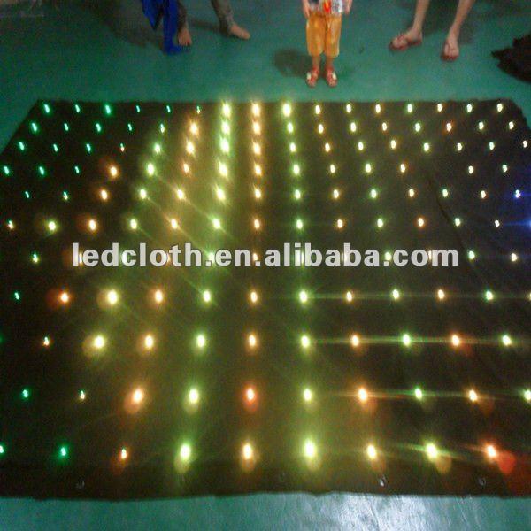 Iluminação led/led estrela de pano/cortina de vídeo levou