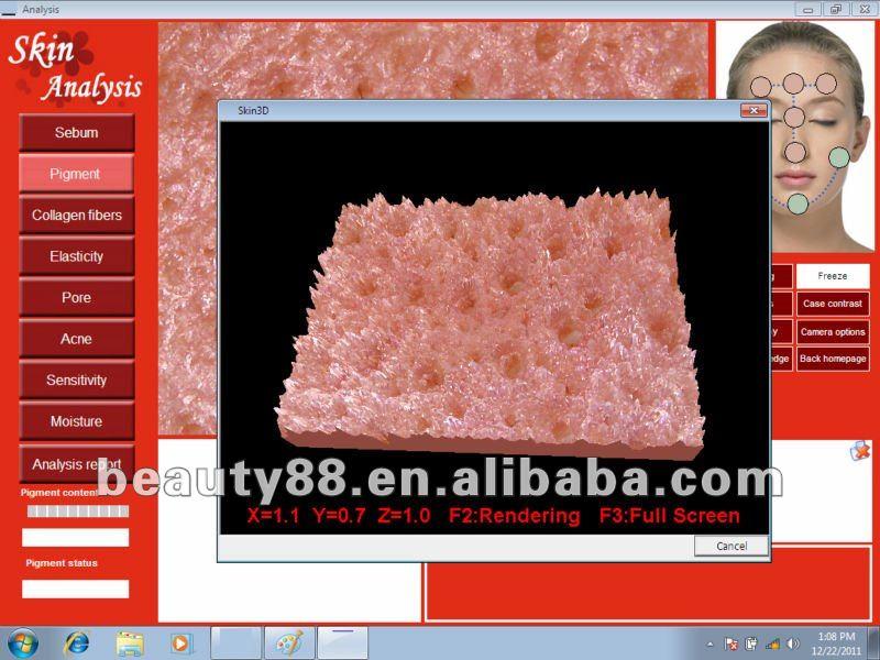 2013 Newest Professional testing macihne skin analyzer