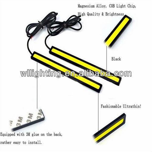 New LED COB Car light Auto Truck Lights DRL Fog Lamp Bulb Strip Black