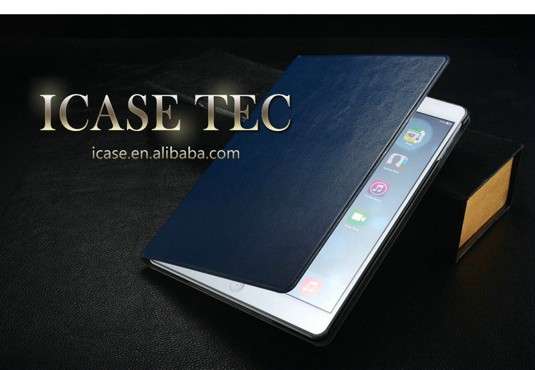 2014 Wholesale leather case for ipad 5 , for ipad air case , luxury case for ipad air