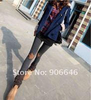 Женские носки и Колготки New Fashion Knitting D-13 Thick leggings stars in knee Warm Winter Slim Stretch Pants Candy Colors 1PC/LOT