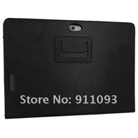 Black Leather Case Cover With Stand For Asus Eee Transformer Prime TF201 10.1 Inch Tablets