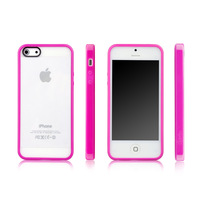 20PCS  Free Shipping For apple devia 5 iphone5 two-color case phone back shell protective case for iPhone 5C for iphone5C