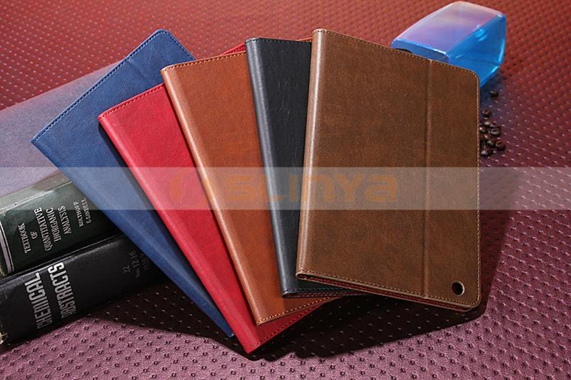 Luxury Leather Flip PU Case for iPad Mini 2 Case with Card Slot