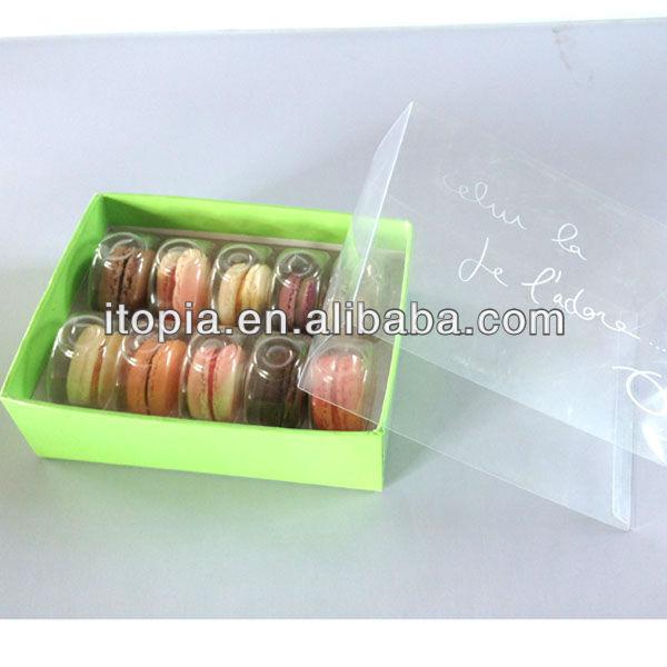 sei pc confezioni whosales 2013 caldo vendita personalizzati carta gialla macaron imballaggio